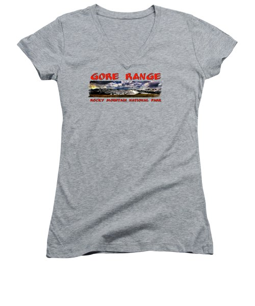 The Gore Range In Panorama Women's V-Neck