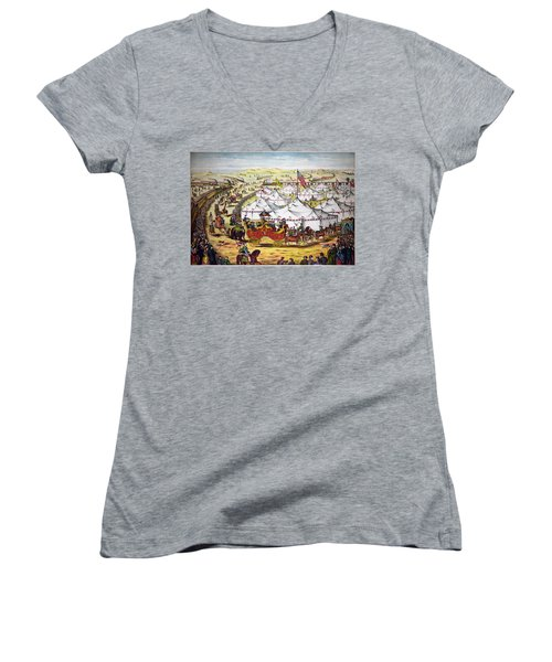 The Grand Layout, Chromolithograph 1874 Women's V-Neck
