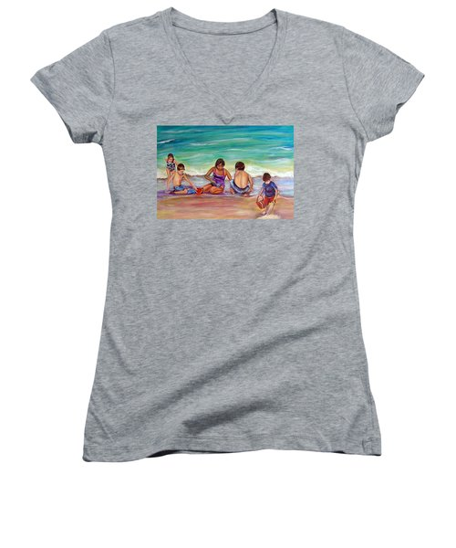 The Grands Women's V-Neck T-Shirt (Junior Cut) by Patricia Piffath