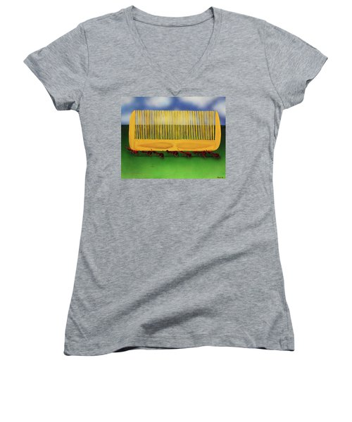 The Great Escape Women's V-Neck T-Shirt (Junior Cut) by Thomas Blood