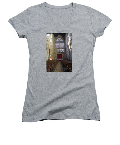 The Great West Window Women's V-Neck T-Shirt (Junior Cut) by David  Hollingworth