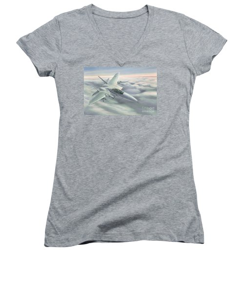 The Grey Ghost Women's V-Neck T-Shirt