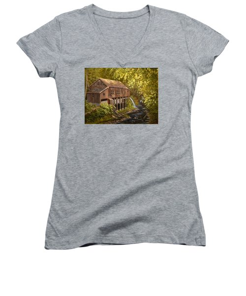 The Grist Mill Women's V-Neck (Athletic Fit)