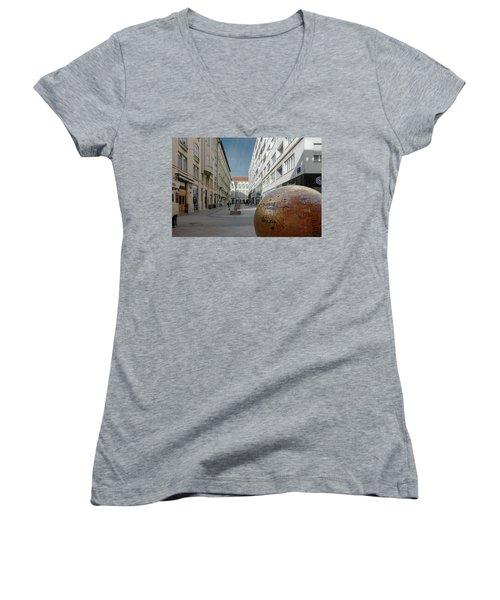 The Grounded Sun Zagreb Women's V-Neck T-Shirt