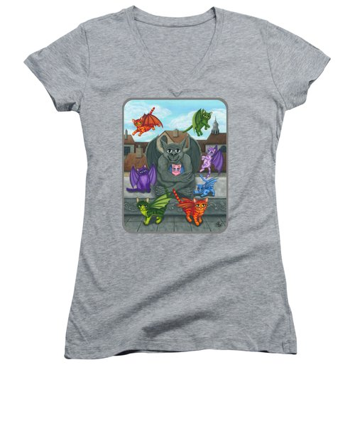 The Guardian Gargoyle Aka The Kitten Sitter Women's V-Neck T-Shirt