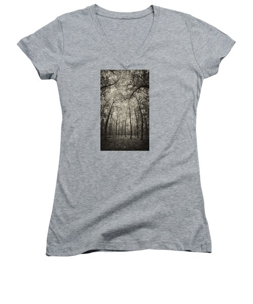 The Hands Of Nature Women's V-Neck T-Shirt (Junior Cut) by Stavros Argyropoulos