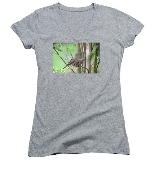The Happy Couple Women's V-Neck T-Shirt (Junior Cut) by Trina Ansel