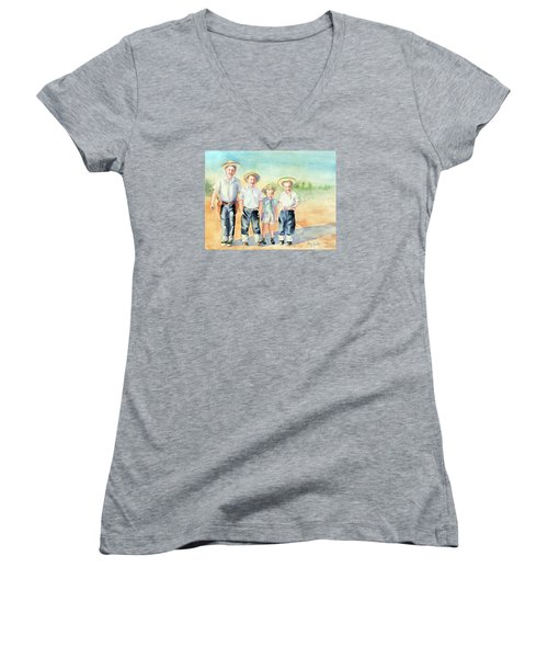 The Happy Wranglers Women's V-Neck