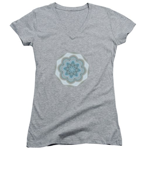 Women's V-Neck featuring the painting The Headland   by Valerie Anne Kelly