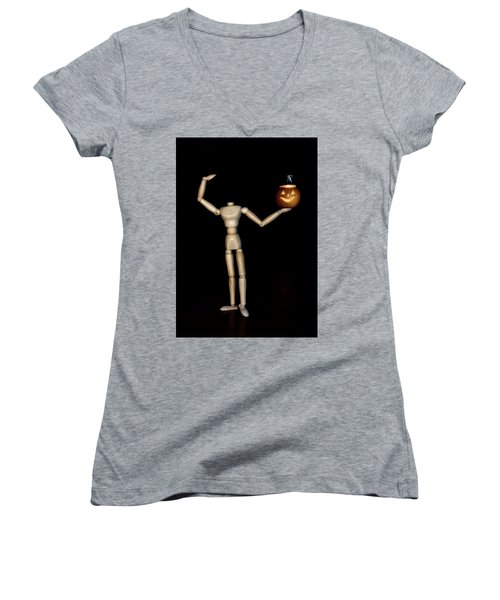 The Headless Woody Women's V-Neck (Athletic Fit)