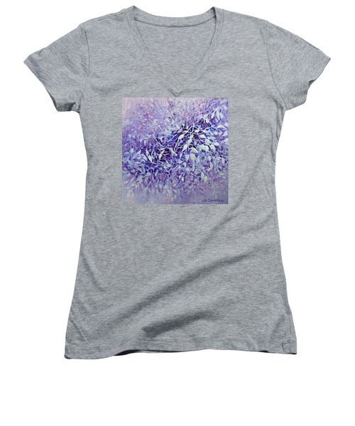 The Healing Power Of Amethyst Women's V-Neck T-Shirt