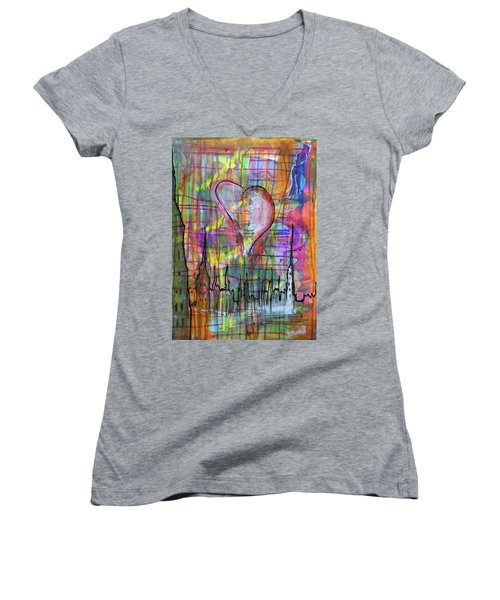 The Heart Of The City Women's V-Neck (Athletic Fit)