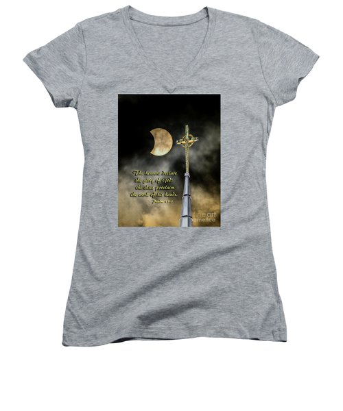 The Heavens Declare The Glory Of God Women's V-Neck T-Shirt