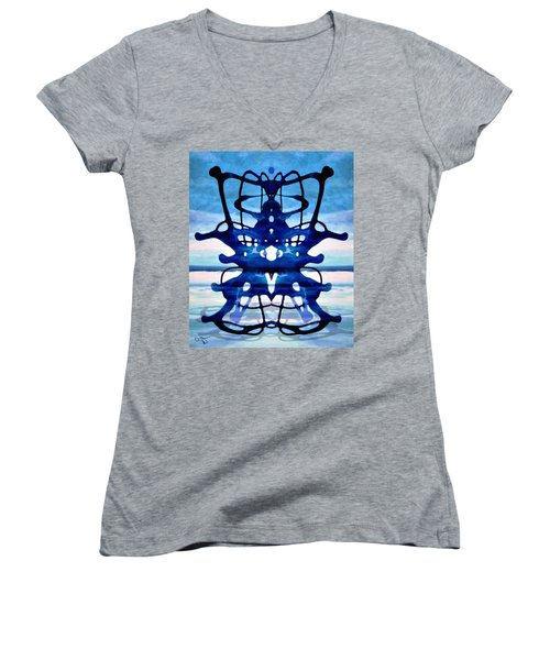 The Hierophant Women's V-Neck T-Shirt