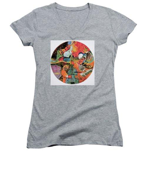 The Holland Jazz Trio Women's V-Neck T-Shirt