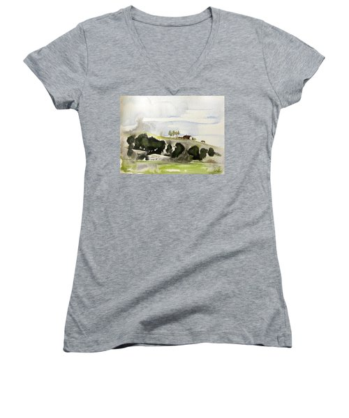 The House On The Hill Women's V-Neck