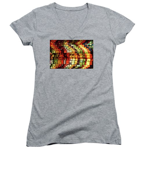 The Human Heart Likes A Little Disorder In Its Geometry Women's V-Neck (Athletic Fit)