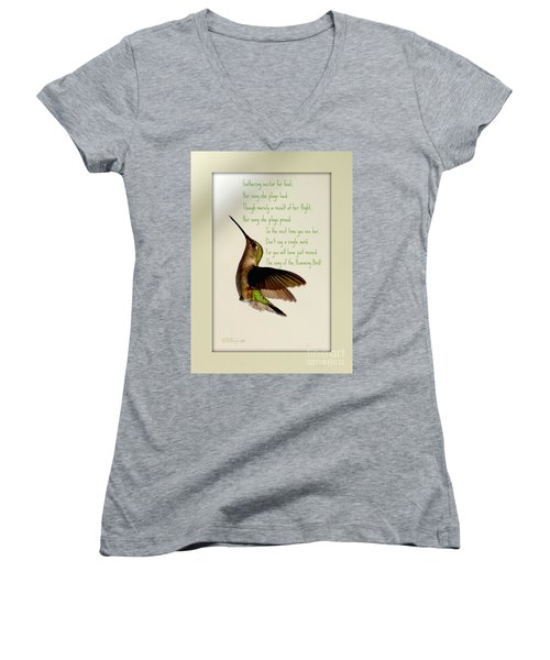 The Hummingbird Women's V-Neck