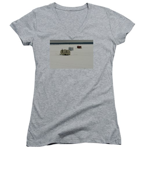 The Huts Women's V-Neck (Athletic Fit)