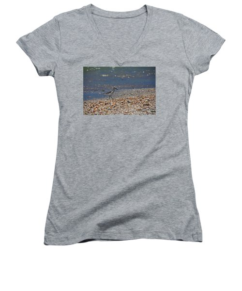 Women's V-Neck T-Shirt featuring the photograph The Intellectual I by Michiale Schneider