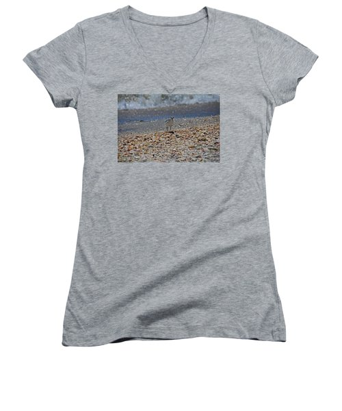 Women's V-Neck T-Shirt featuring the photograph The Intellectual II by Michiale Schneider