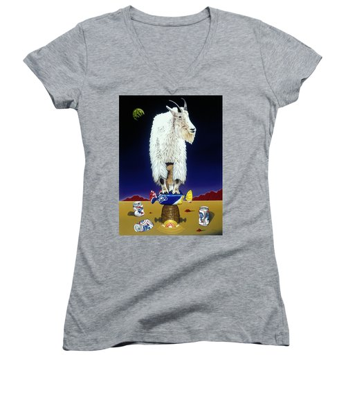 The Intoxicated Mountain Goat Women's V-Neck