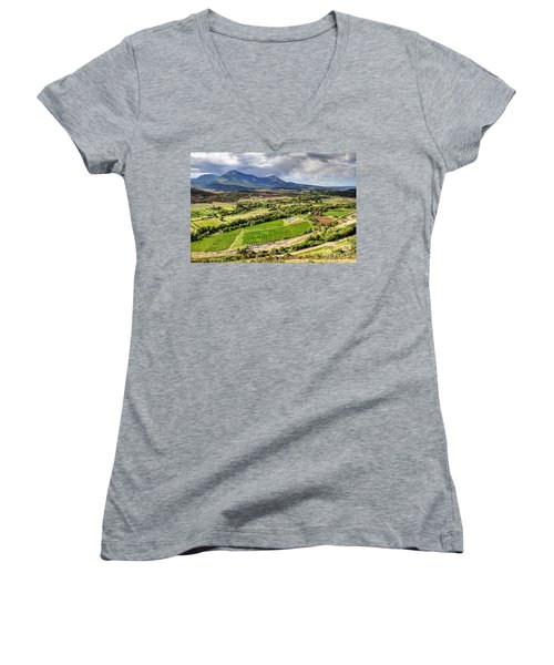 The Jewel Of The North Fork Women's V-Neck (Athletic Fit)