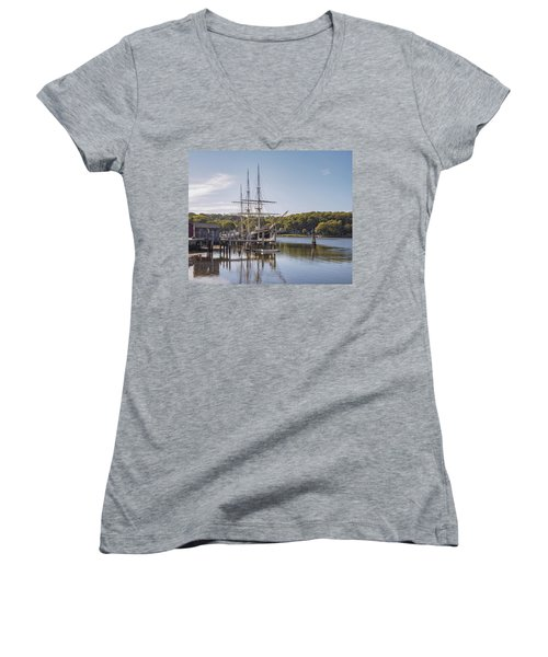 The Joseph Conrad Mystic Seaport Women's V-Neck T-Shirt