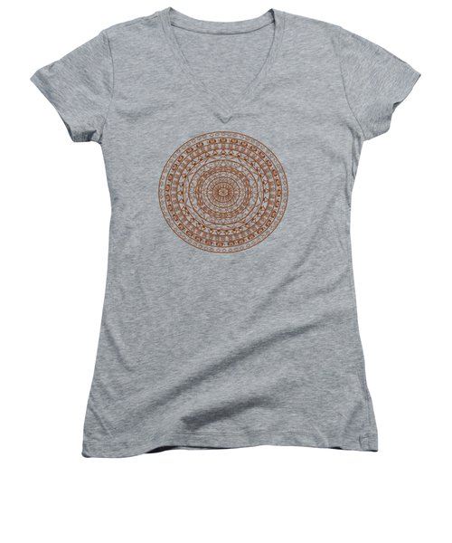 The Jungle Mandala Women's V-Neck (Athletic Fit)