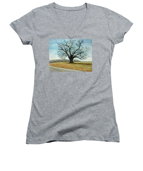 The Keeler Oak Women's V-Neck T-Shirt