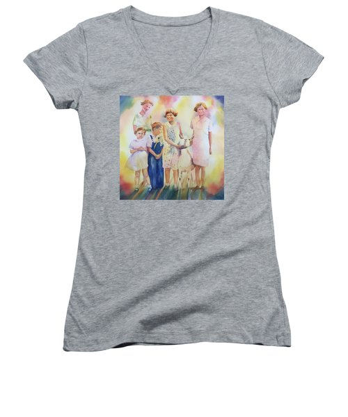 The Kids And The Kid Women's V-Neck