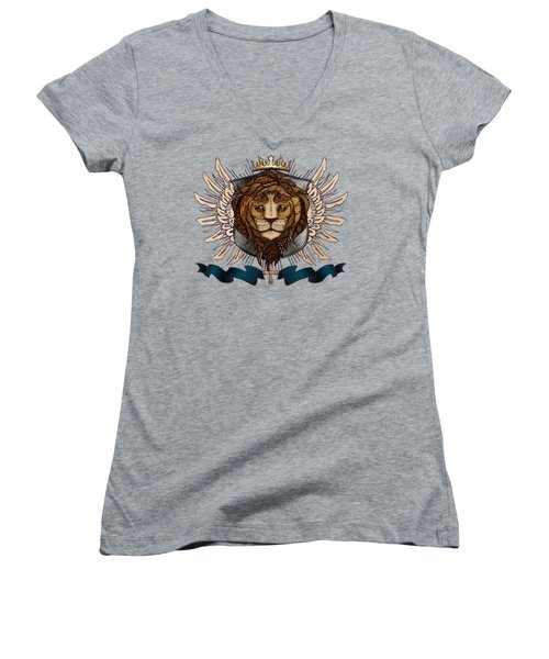 The King's Heraldry II Women's V-Neck T-Shirt