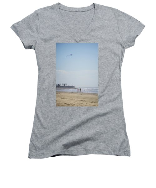 The Kite Fliers Women's V-Neck (Athletic Fit)