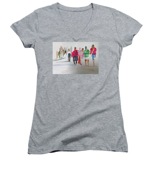 The Ladies Women's V-Neck T-Shirt (Junior Cut) by P Anthony Visco