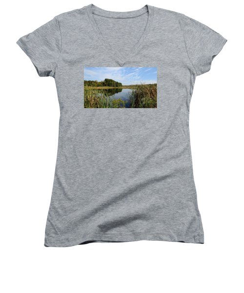 The Lake At Cadiz Springs Women's V-Neck T-Shirt
