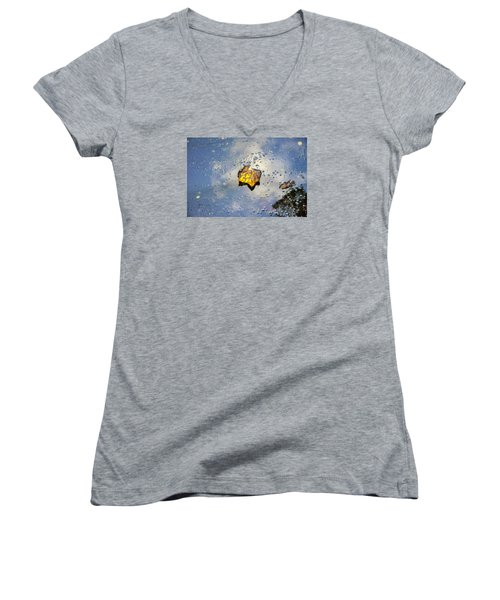 The Leaf And Liquid Sky Women's V-Neck (Athletic Fit)