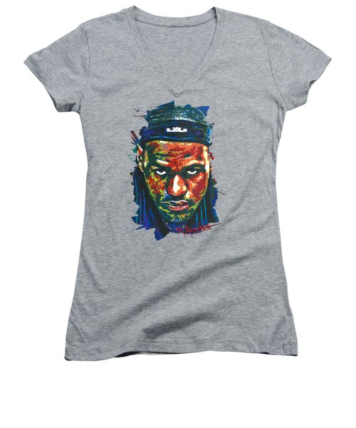 The Lebron Death Stare Women's V-Neck T-Shirt