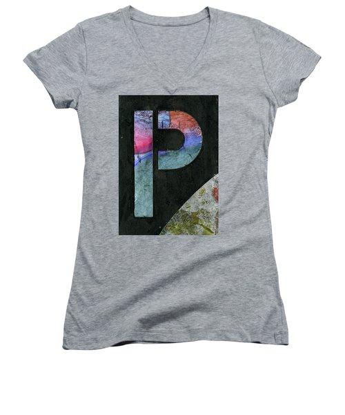 The Letter P Women's V-Neck T-Shirt