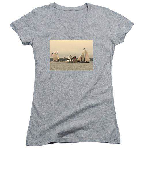 The Lighthouse At Rockland Women's V-Neck