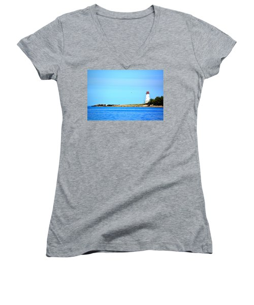The Lighthouse At Sea Women's V-Neck