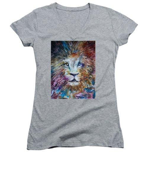 The Lion Women's V-Neck T-Shirt