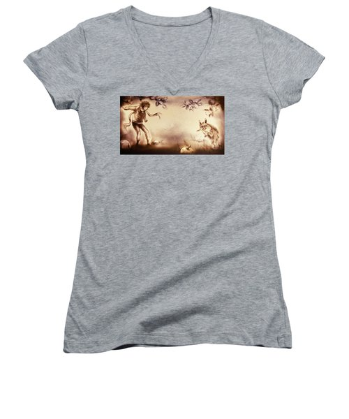 The Little Prince And The Fox Women's V-Neck