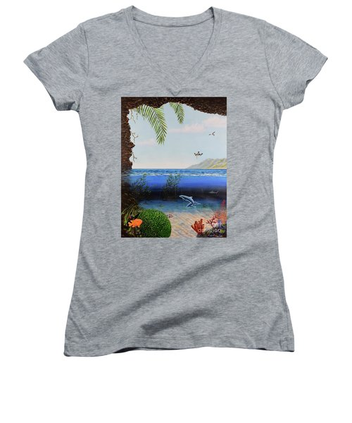 The Living Ocean Women's V-Neck