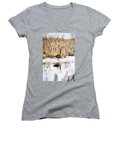 The Lone Traveler Women's V-Neck