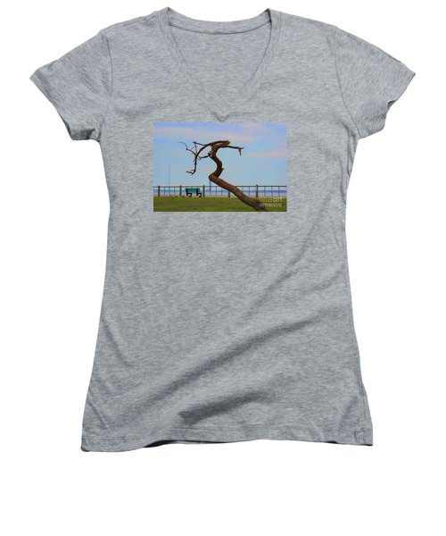The Lone Tree Women's V-Neck (Athletic Fit)