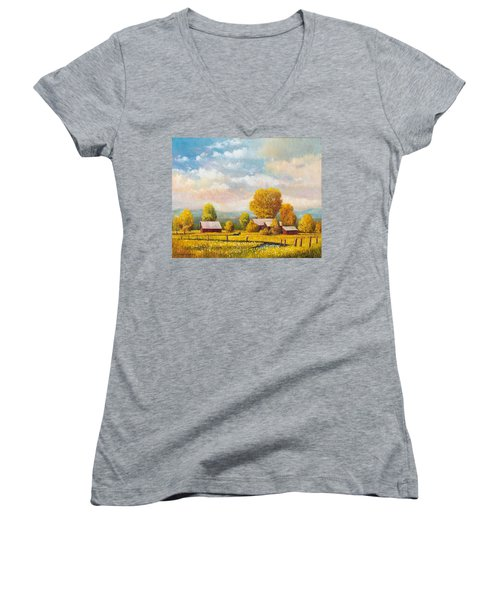 The Lonely Horse Women's V-Neck (Athletic Fit)