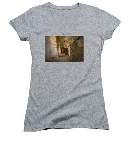 The Long Hall Women's V-Neck T-Shirt (Junior Cut) by Inge Riis McDonald