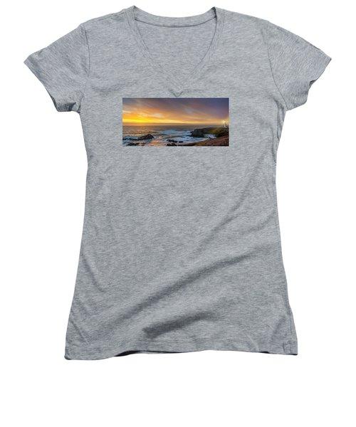 The Long View Women's V-Neck T-Shirt (Junior Cut) by James Heckt