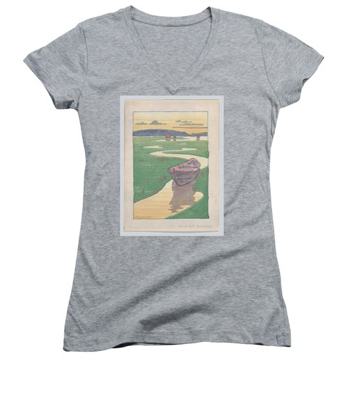 The Lost Boat , Arthur Wesley Dow Women's V-Neck
