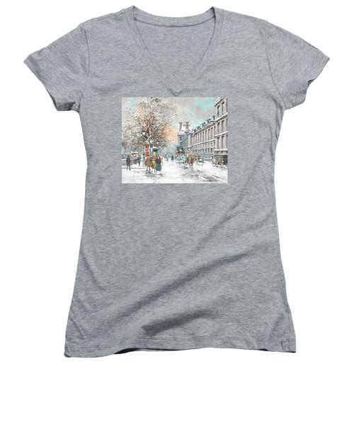 The Louvre-winter Women's V-Neck (Athletic Fit)